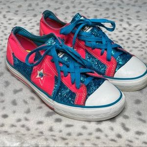 Converse One Star Neon Pink Sneaker Customized